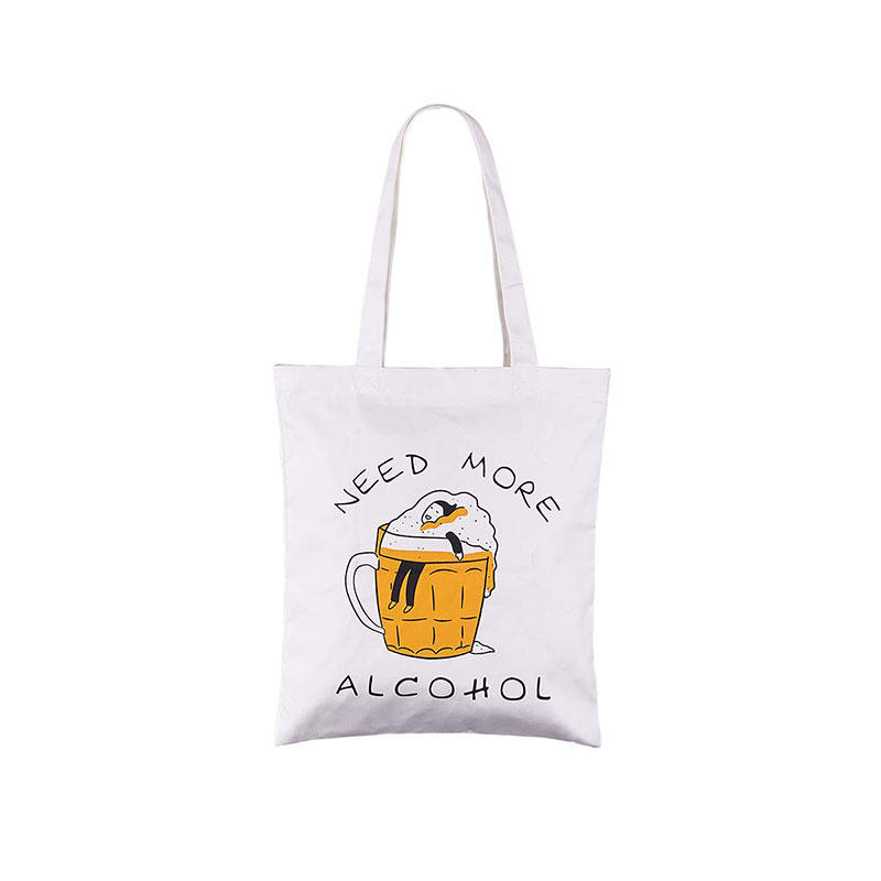 :Need More Alcohol' Cotton Canvas Tote Bag Stylish Casual Shoulder Bag with Zipper and Pocket for Shopping Travel and School Work Black Striped Eco-Friendly (AlcoholOrange)