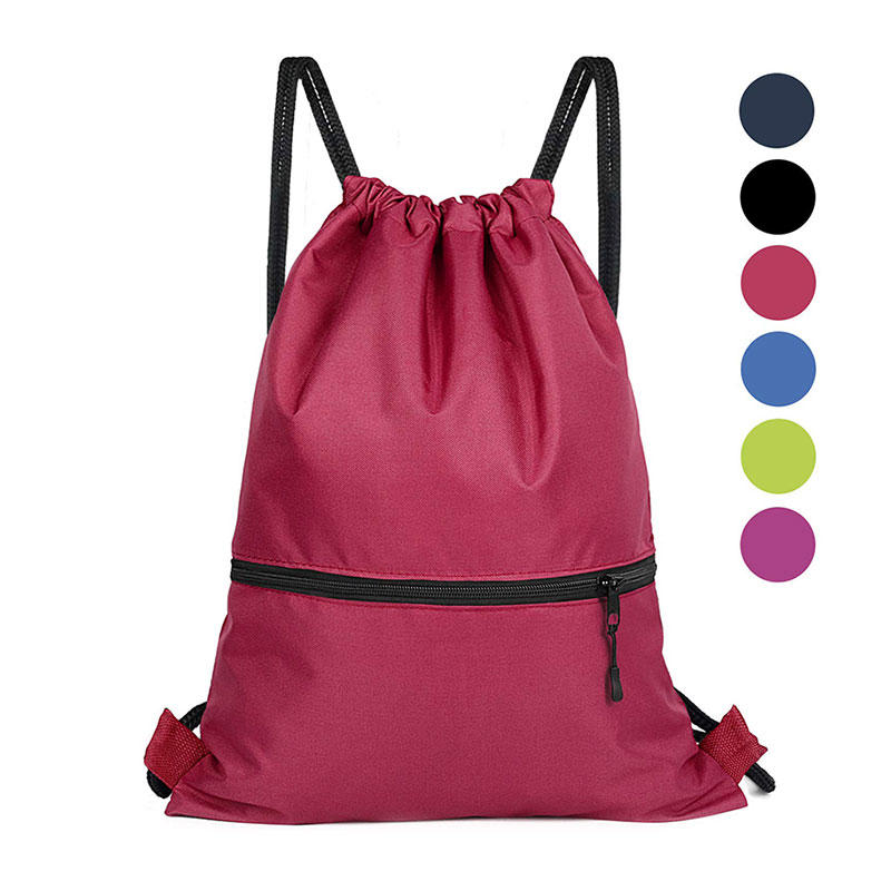Drawstring Backpack Sport Gym Sackpack Cinch Bags for Women and Men - Large Size for Travel, Hiking and More-6 Colors