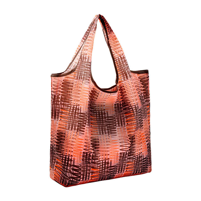 Foldable Nylon Light Weight Compact Grocery shopping Storage bags Reusable & Washable Fits in Pocket Eco Friendly