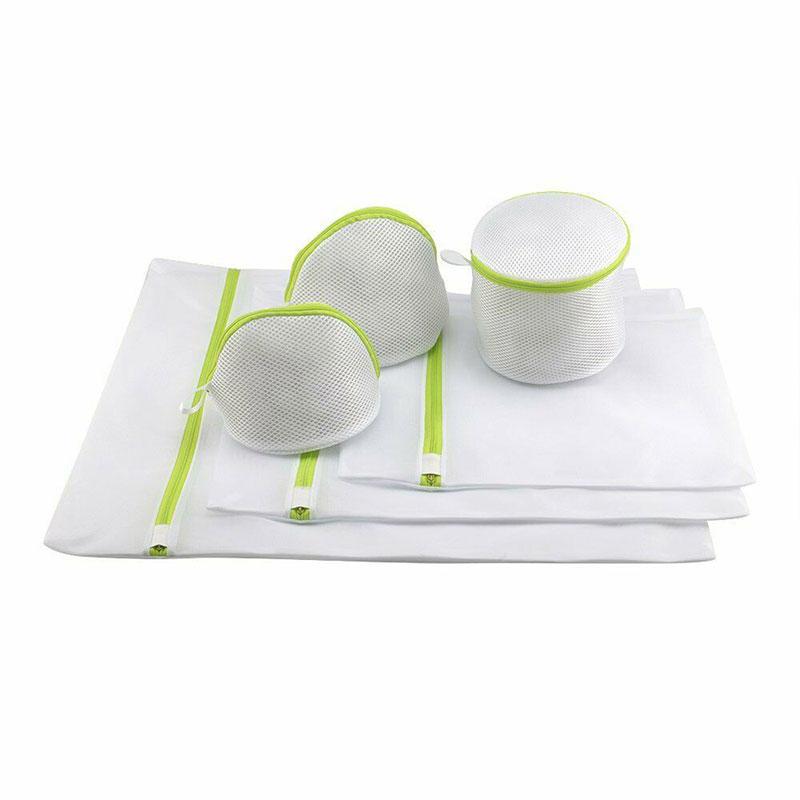 Reusable Polyester Mesh Zipper Mesh Laundry Bags Set