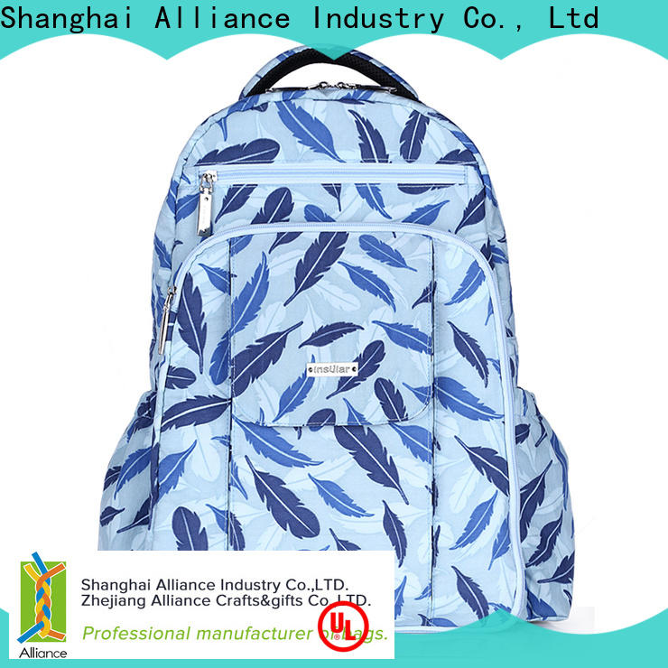 Alliance hot selling baby diaper bags manufacturer for girls