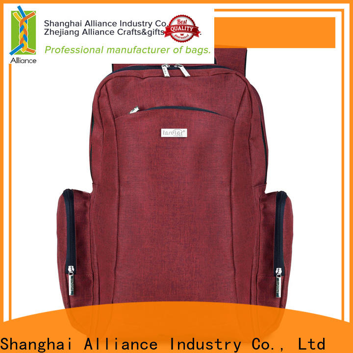 Alliance diaper bag backpack from China for wet cloth