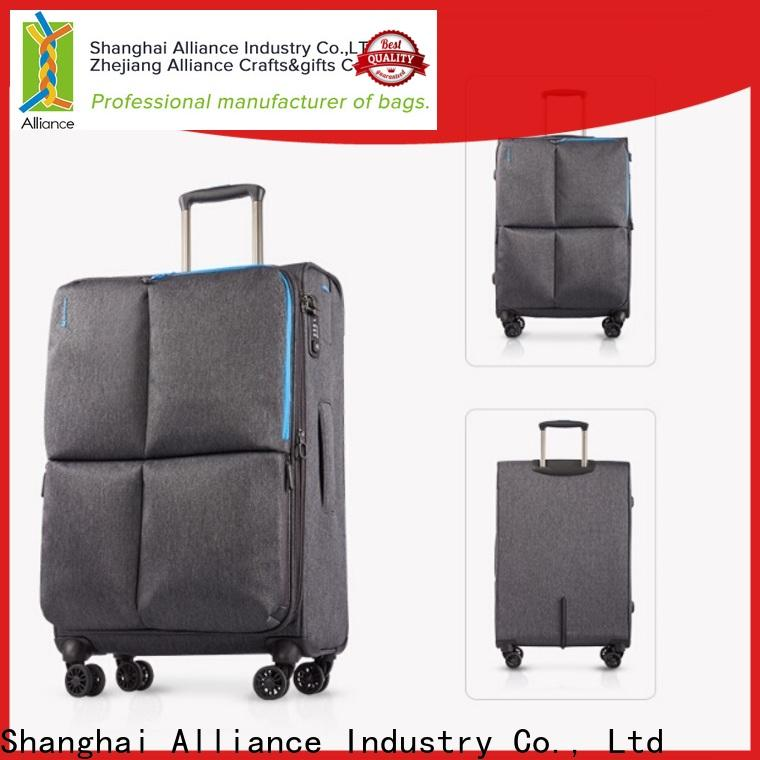 Alliance luggage trolley bags design for vacation