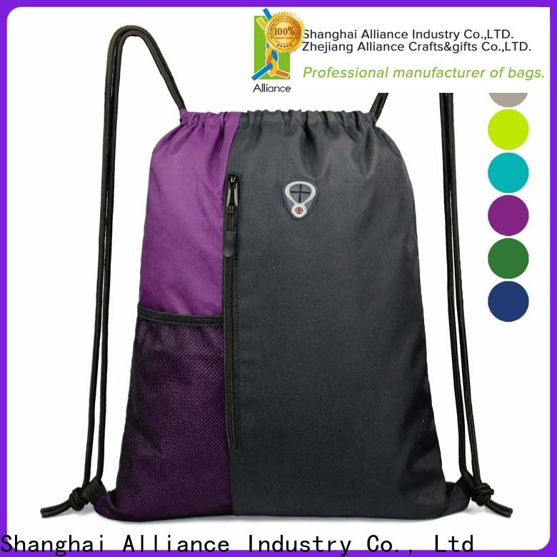 Alliance drawstring backpack with good price for student