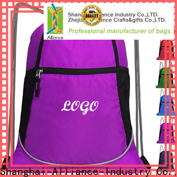 Alliance cotton drawstring bags with good price for student