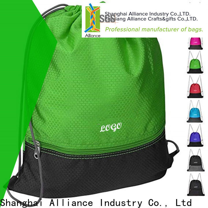 Alliance reusable drawstring backpack factory for student