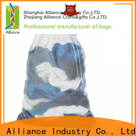 Alliance certificated laundry net bag factory price for beach