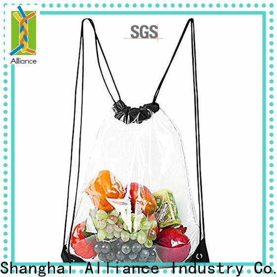 Alliance cotton drawstring bags design for student