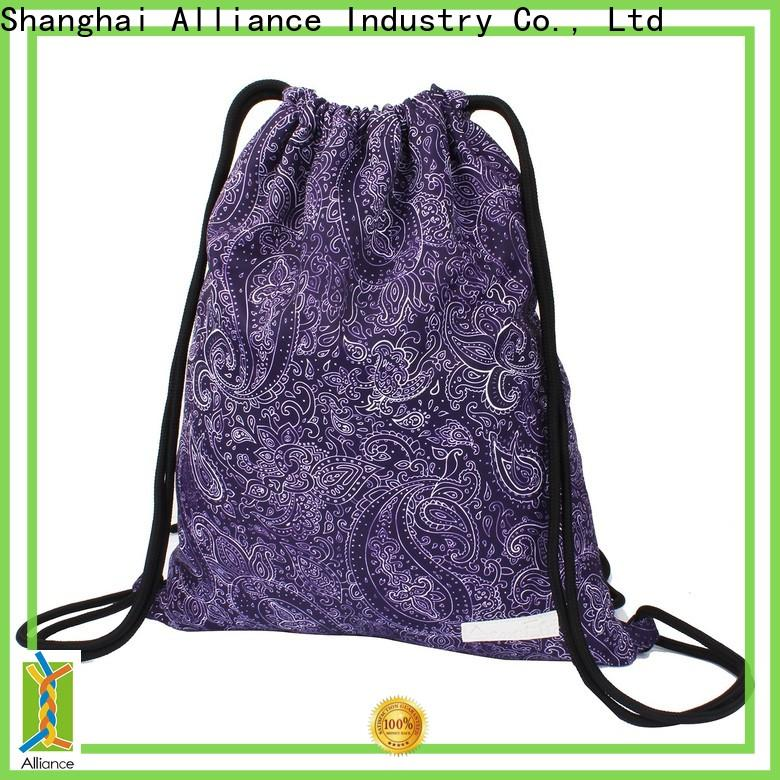 Alliance cotton drawstring bags factory for girls