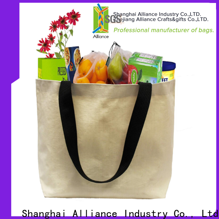 Alliance cotton tote bags customized for shopping