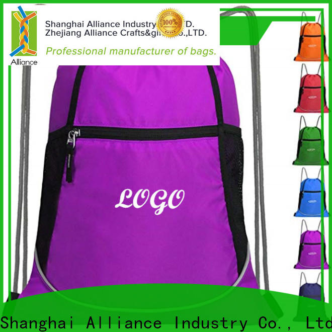 Alliance cotton drawstring bags inquire now for sport