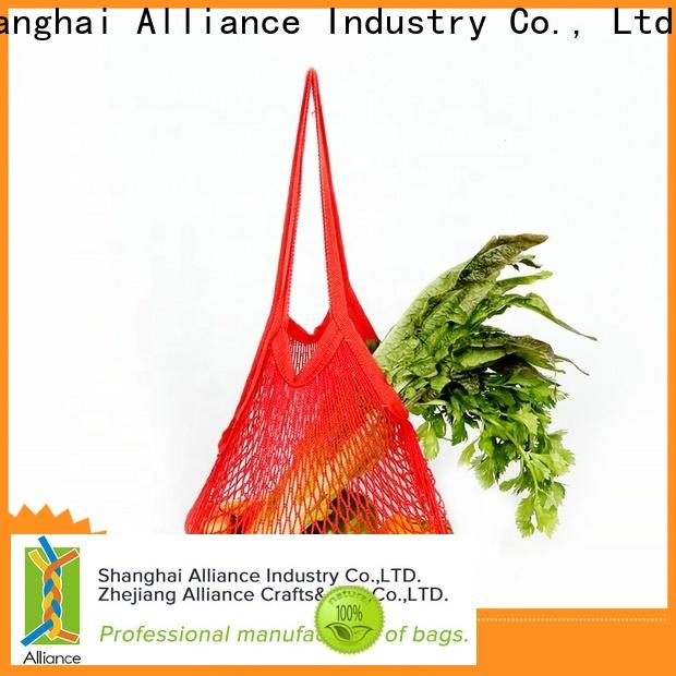 Alliance extra large mesh bags supplier for shopping