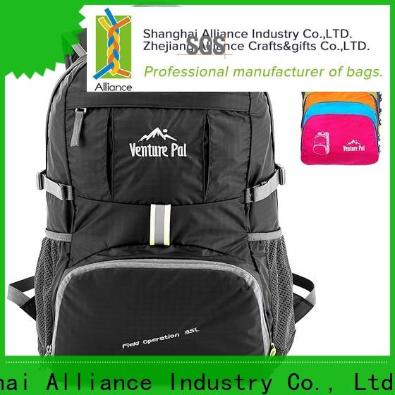 Alliance waterproof backpack manufacturers with good price for hiking