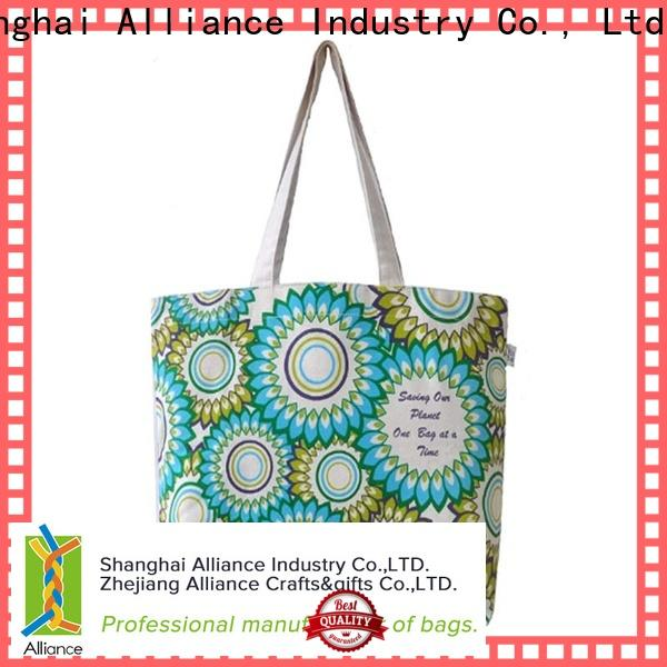 Alliance cotton canvas tote bags from China for grocery