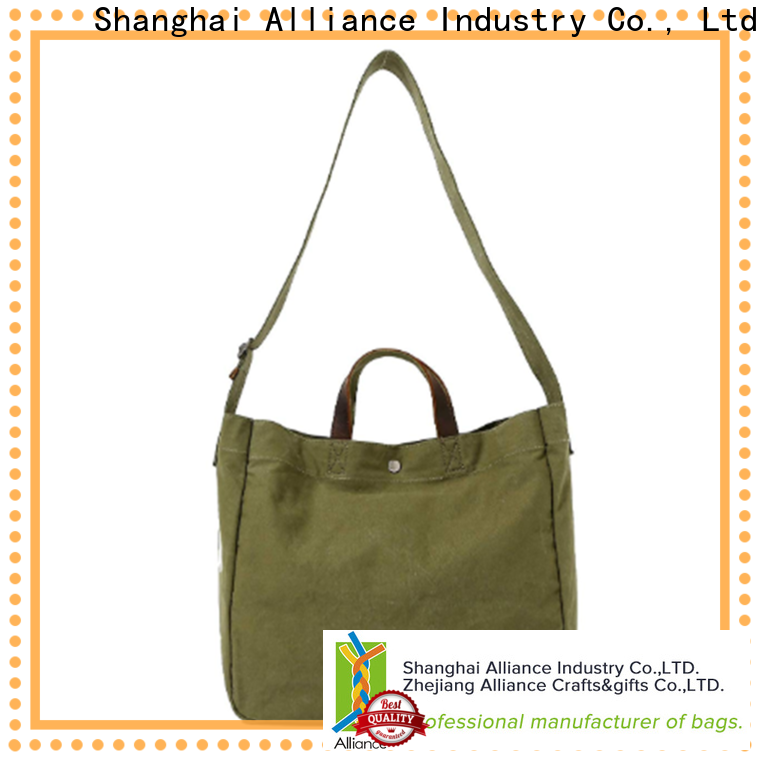 Alliance canvas tote bags customized for books