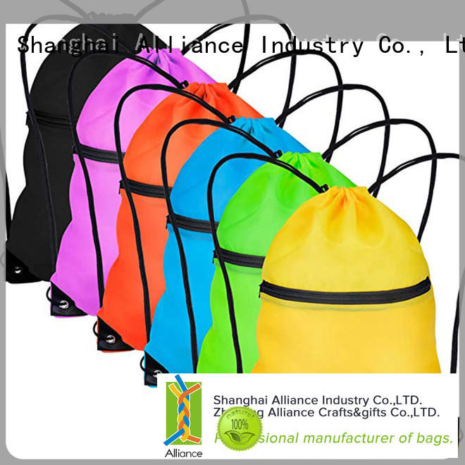 waterproof cotton drawstring bags with good price for sport