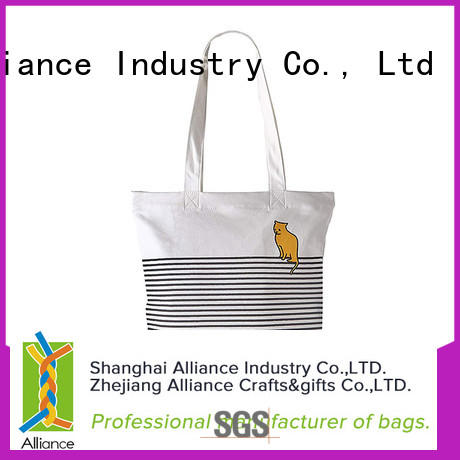 Alliance hot selling canvas tote bags series for shopping