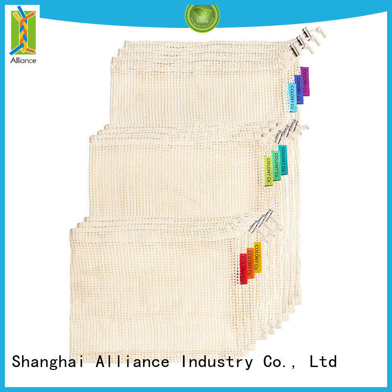 Alliance professional mesh bags supplier for shopping