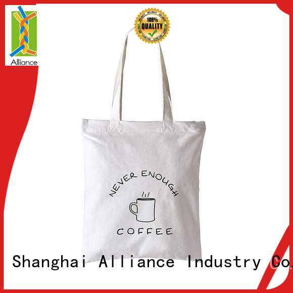 Alliance cotton bag customized for books
