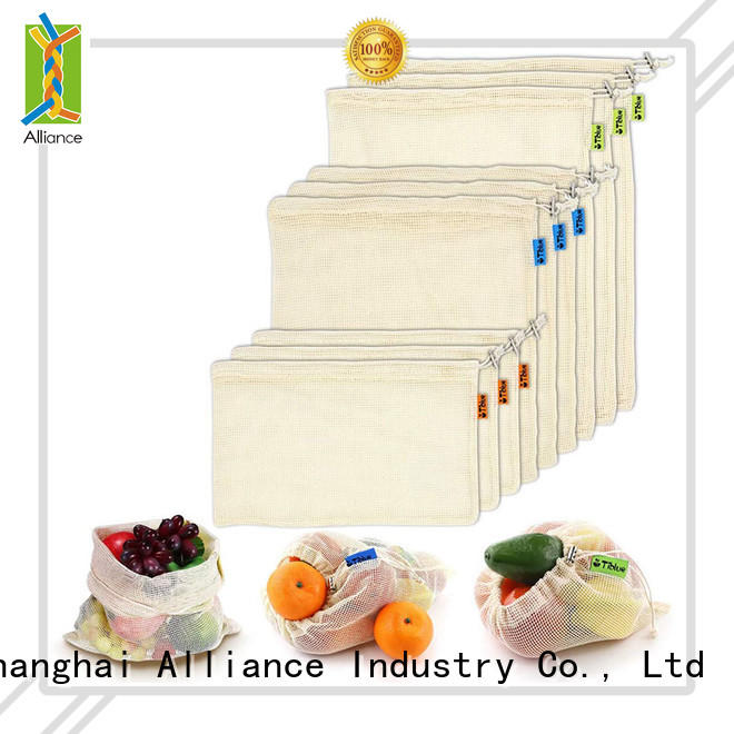 Alliance foldable mesh produce bags personalized for shopping