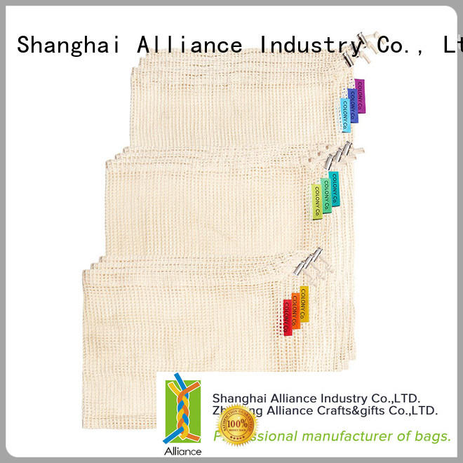 Alliance certificated mesh produce bags wholesale for shopping